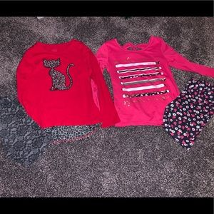 Girls Long sleeve outfits with matching leggings 6